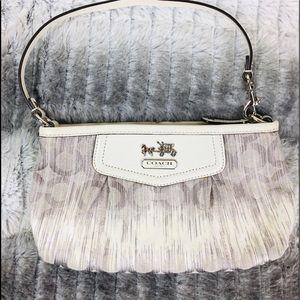 Coach mini bag White Silver